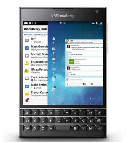 Blackberry passport Đen xách tay Azerty
